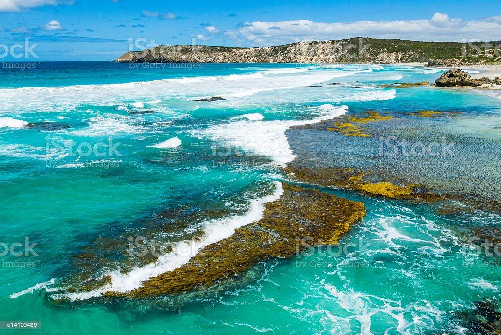 Pennington Bay on Kangaroo Island, South Australia stock photo