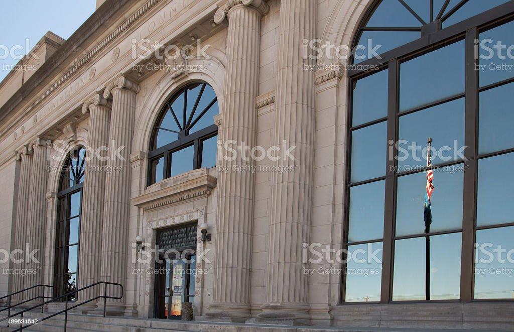Pennington County Courthouse stock photo