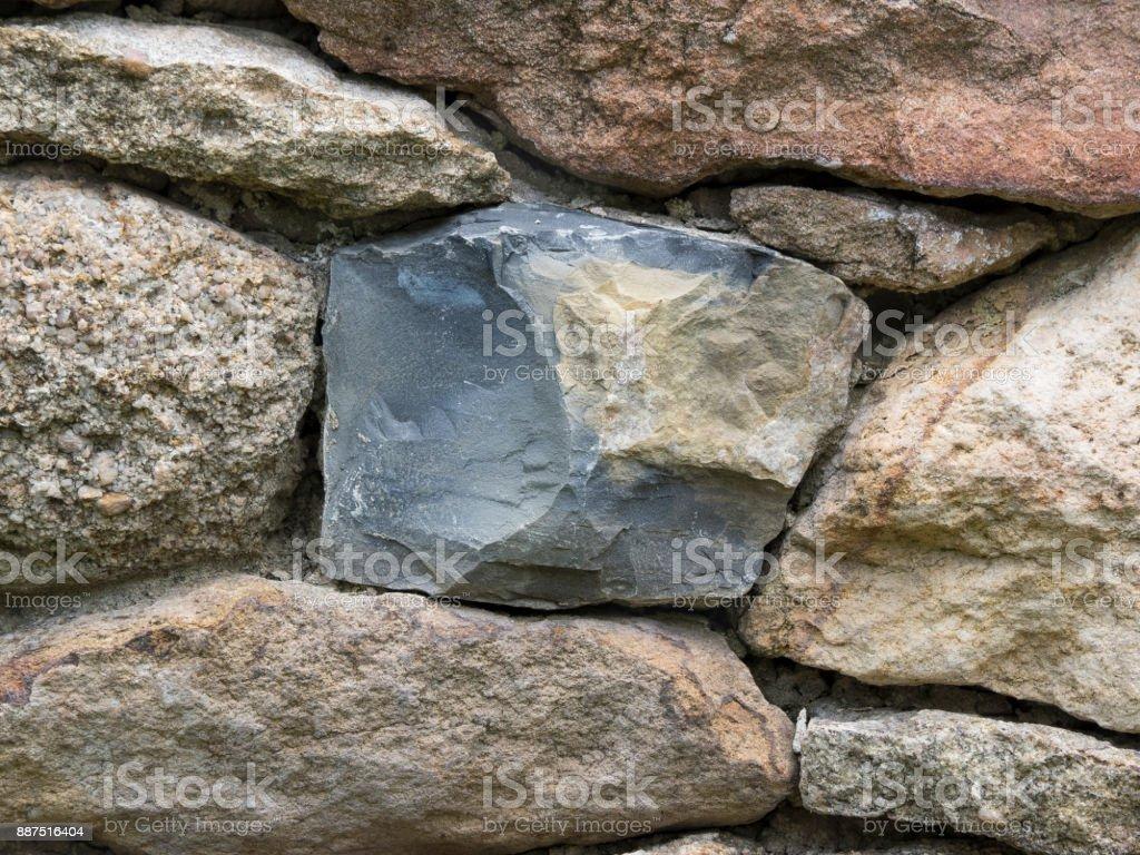 Pennsylvania Bluestone in a Farm Stone Wall stock photo