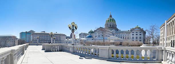 Pennsylvania Capitol Building Panorama stock photo