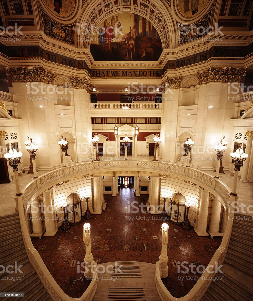 Pennsylvania Capitol Dome Interior royalty-free stock photo