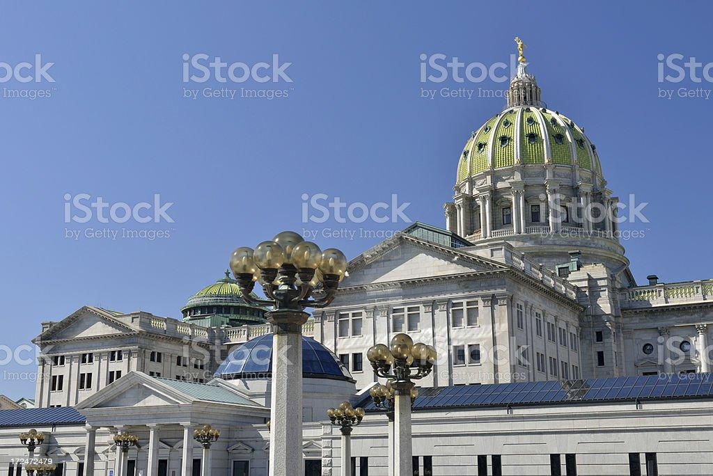 Pennsylvania Capitol stock photo