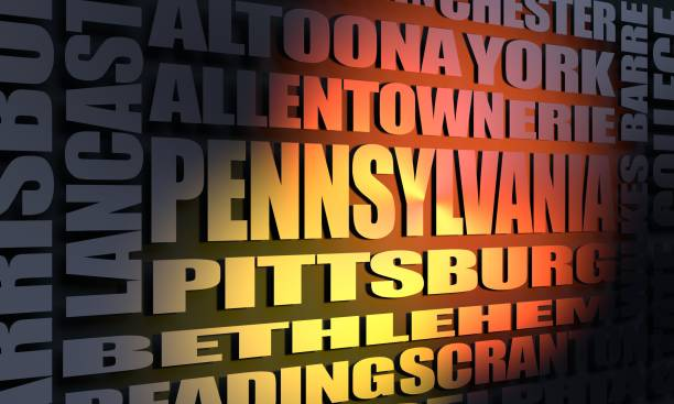 pennsylvania cities list - scranton pa stock photos and pictures