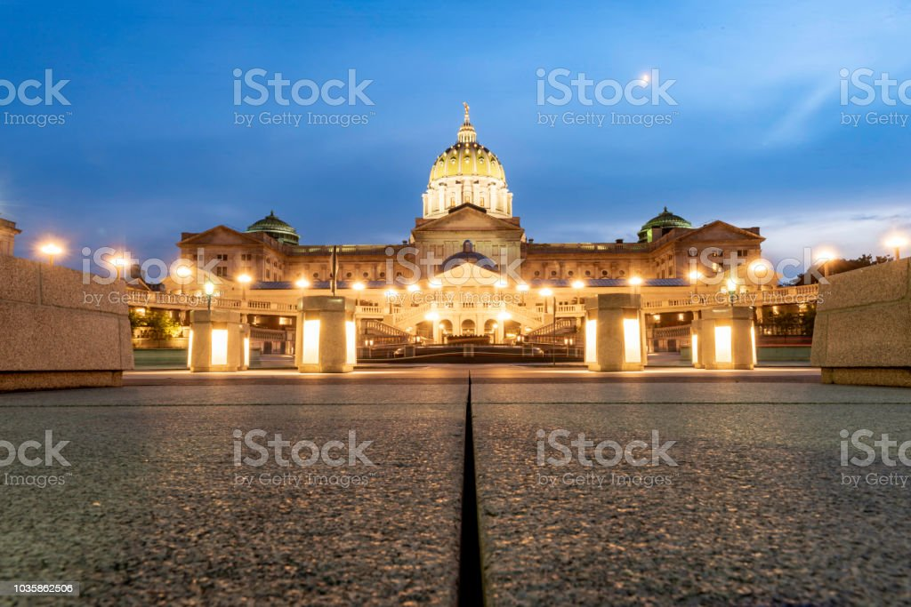 Pennsylvania state capital building stock photo