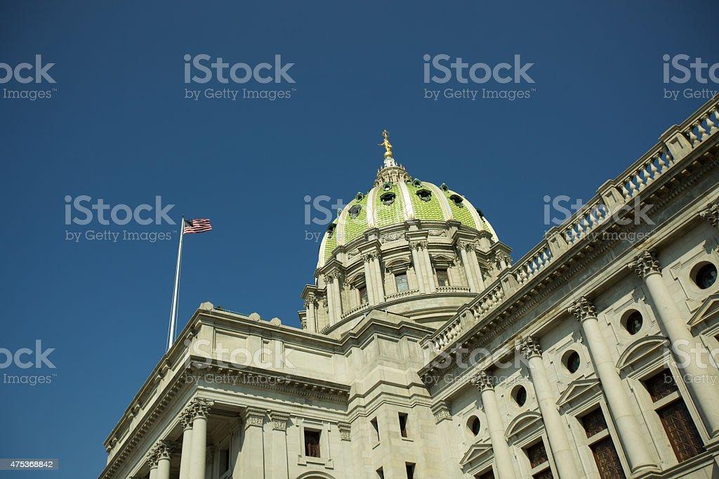 Pennsylvania State Capitol in Harrisburg, PA stock photo