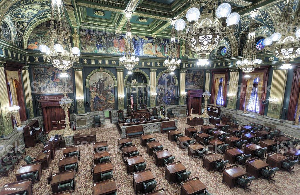 Pennsylvania State Senate Chamber Interior stock photo