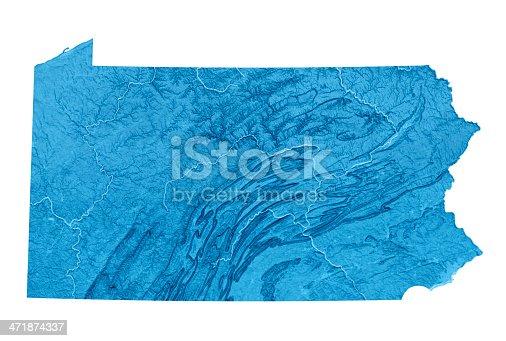 173169385istockphoto Pennsylvania Topographic Map Isolated 471874337