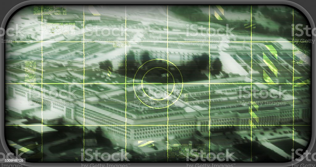 US Penntagon as scope targe (simulated) stock photo