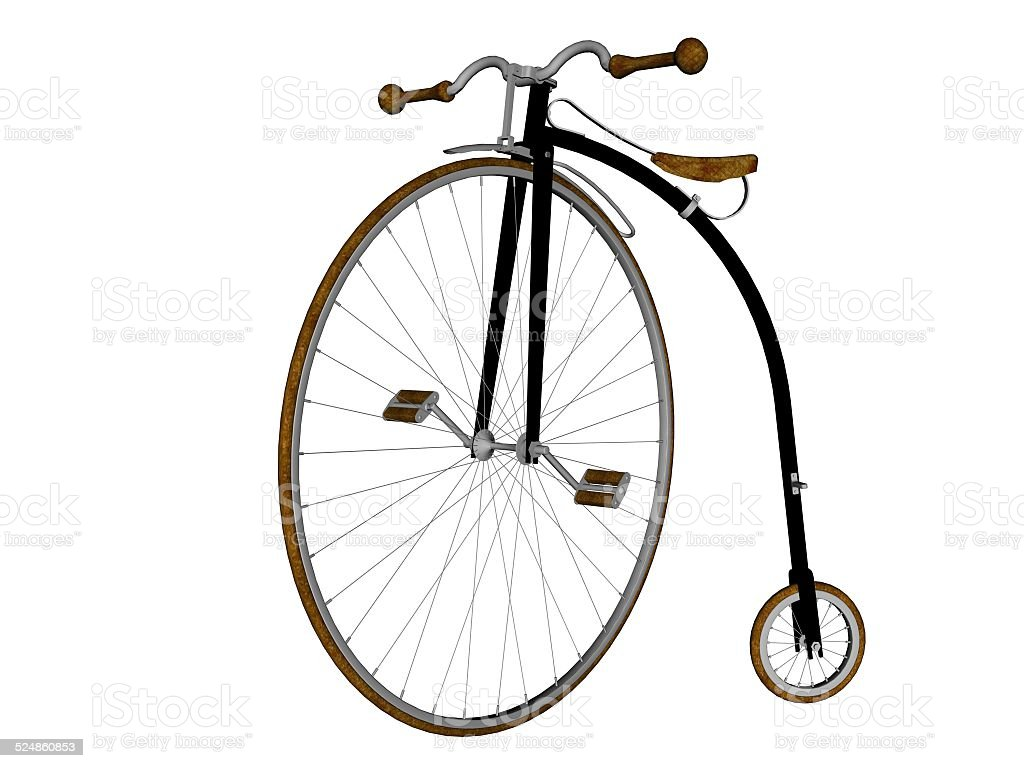 Penny farthing bicycle stock photo