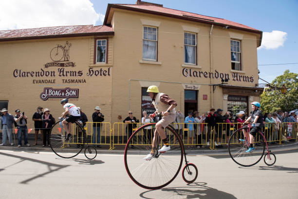 penny farthing championships. - sports championship stock photos and pictures