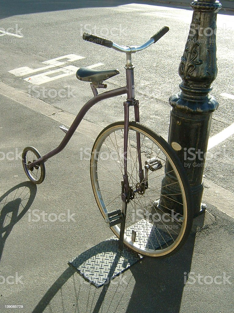 Penny Farthing Tricycle stock photo