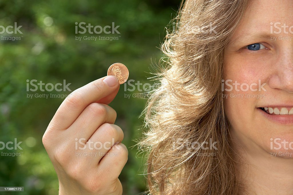 Penny for your thoughts stock photo