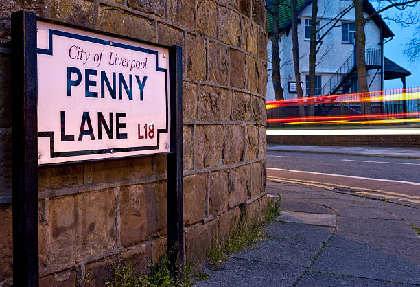 Penny Lane in Liverpool stock photo