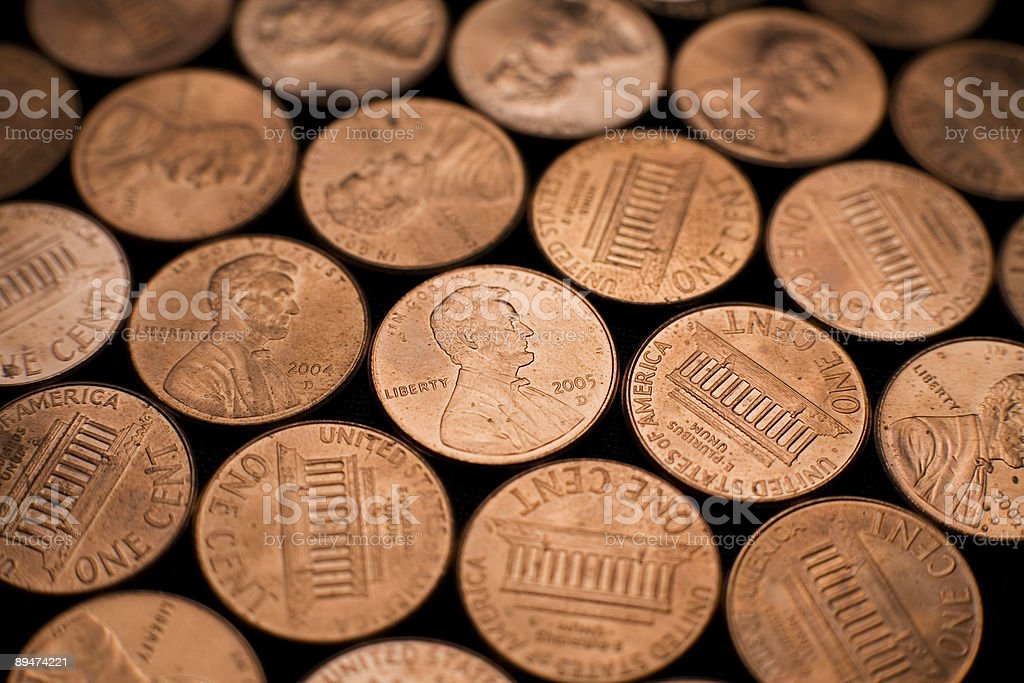 Penny Pattern 3 royalty-free stock photo