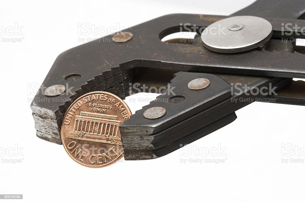 Penny Pincher 1  American Culture Stock Photo