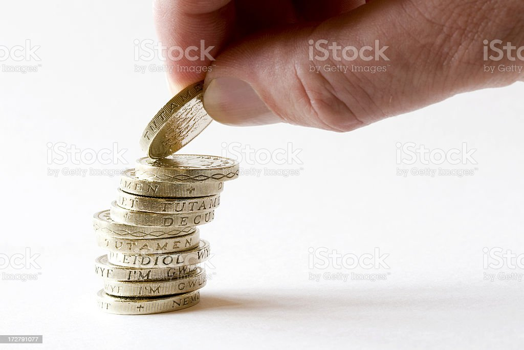 Penny Pinching royalty-free stock photo