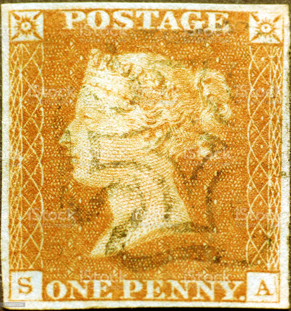 Penny Red stock photo