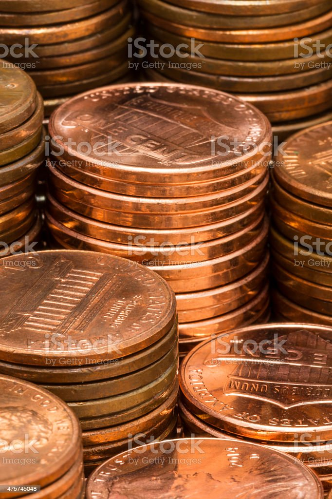 Penny Stacks stock photo