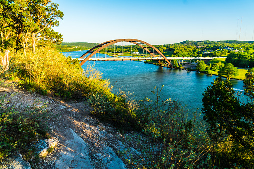 501329818 istock photo Pennybacker bridge cliff side view in Austin Texas 1132835744