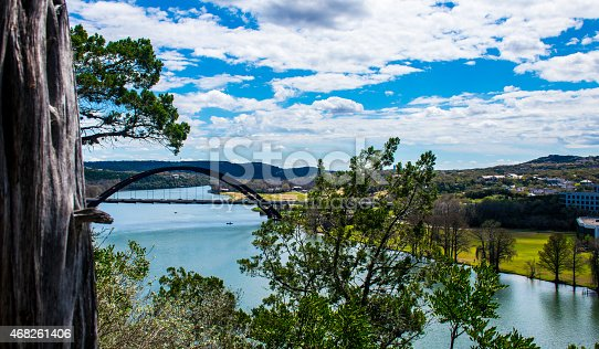 istock Pennybacker Bridge Hill Country Suspension Bridge 468261406