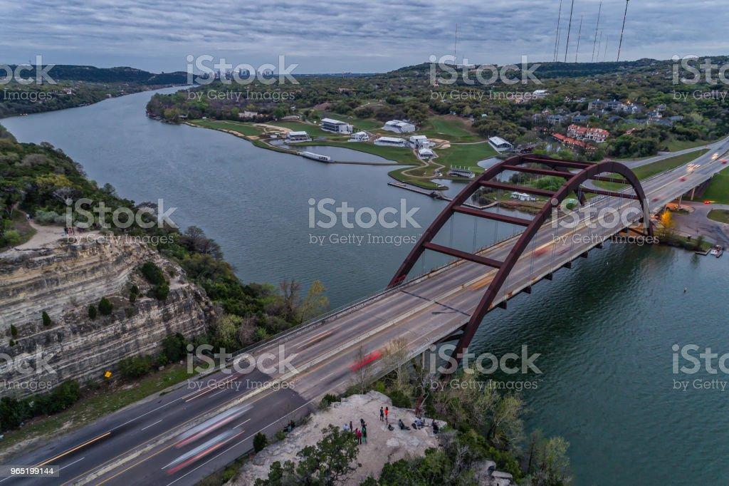 Pennybacker Bridge in Austin, Texas zbiór zdjęć royalty-free