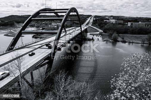 istock Pennybacker or 360 Bridge Black and white 468332958