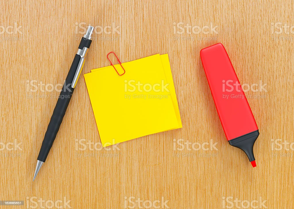 pens and note paper royalty-free stock photo
