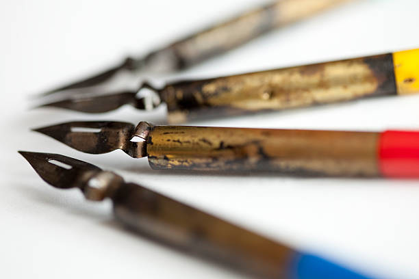 Pens for ink-drawings stock photo