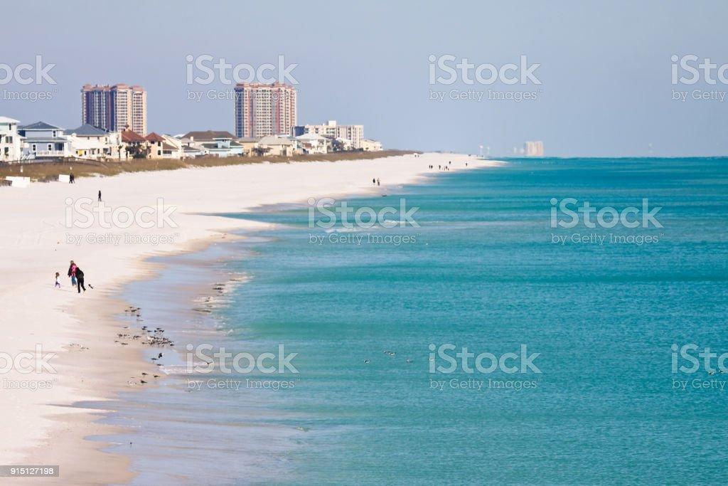 Pensacola Beach im Winter Lizenzfreies stock-foto