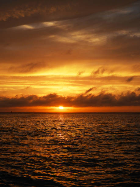 Pensacola Beach Sunset stock photo