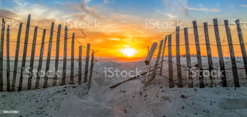 Pensacola Beach sunset stock photo