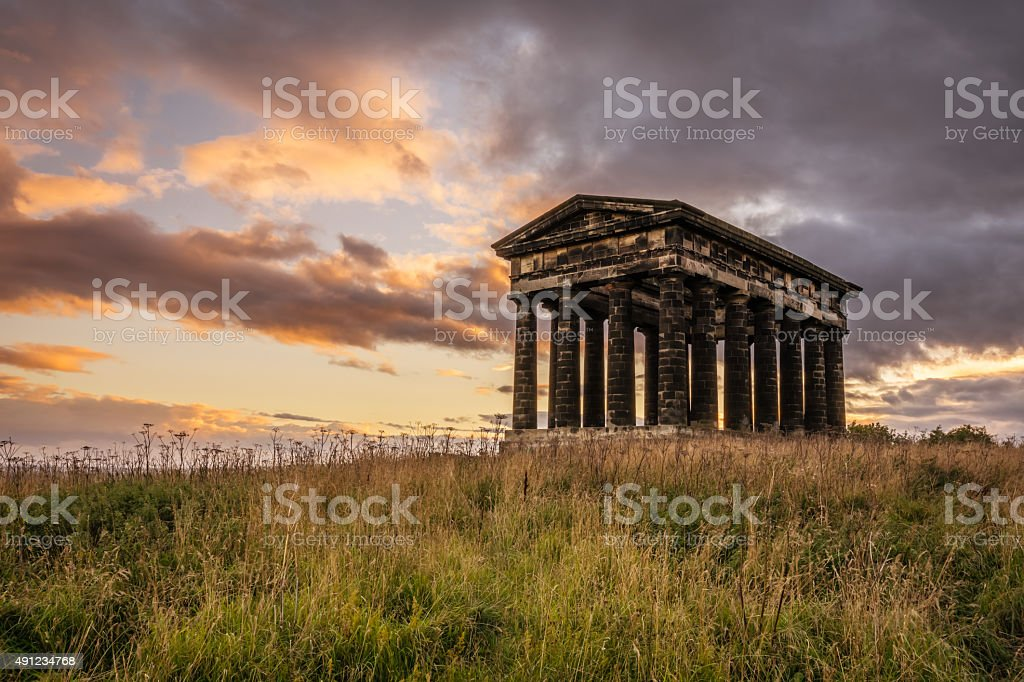 Penshaw Monument at Sunset stock photo