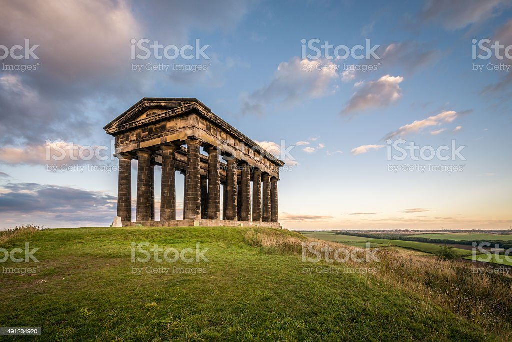 Penshaw Monument dominates the Wearside Skyline stock photo