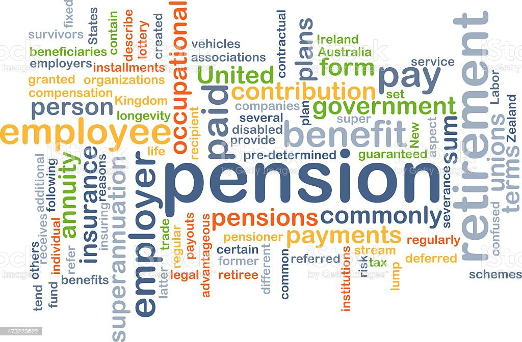 Pension background concept stock photo