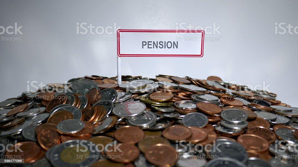 Pension Savings stock photo