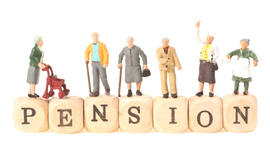 istock pension word with pensioner 155125644