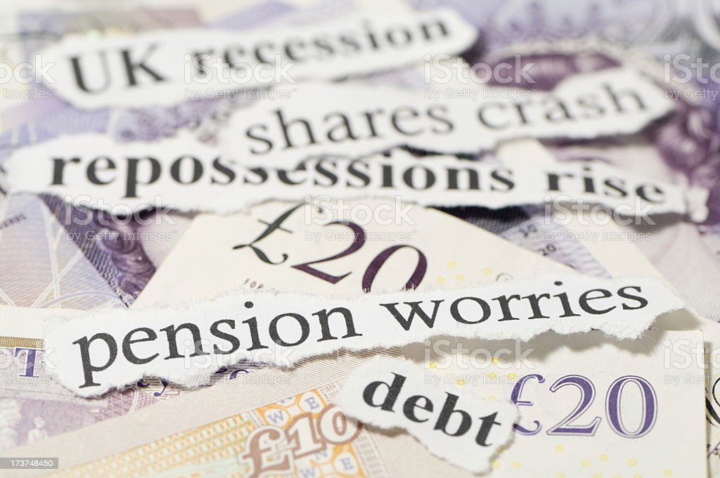 Pension worries stock photo