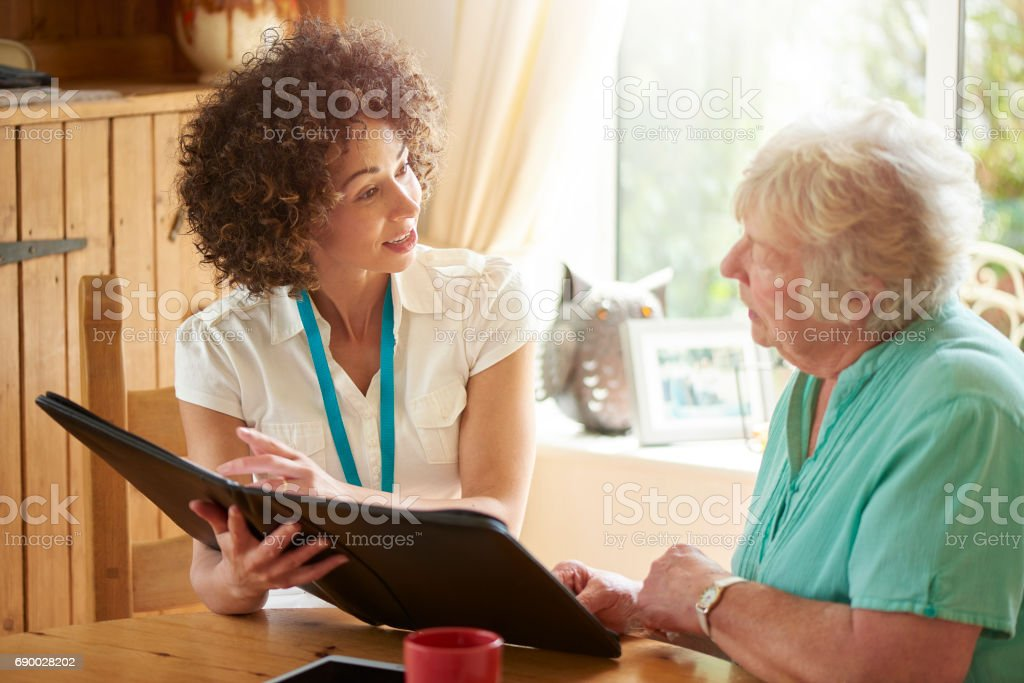 pensioner advice stock photo