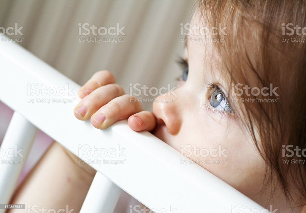 Pensive baby royalty-free stock photo