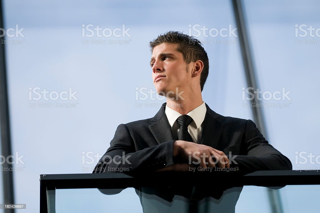 pensive businessman royalty-free stock photo