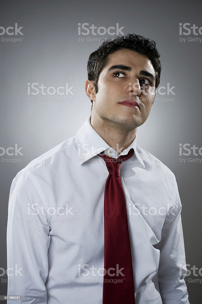 Pensive businessman royalty-free stock photo