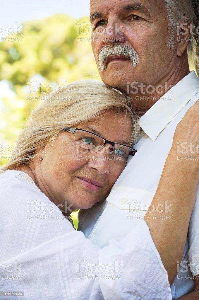 Pensive couple royalty-free stock photo