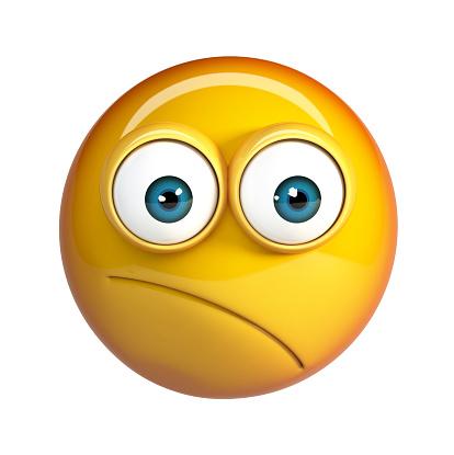 Nachdenklichen Gesicht Emoji Besorgt Emoticon Stockfoto Und Mehr Bilder Von Abstrakt