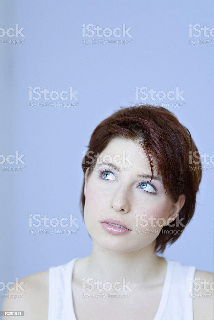 Pensive Girl royalty-free stock photo