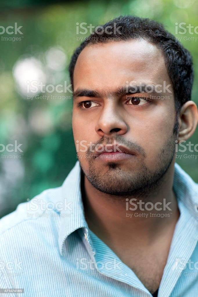 Pensive Indian Young Man royalty-free stock photo