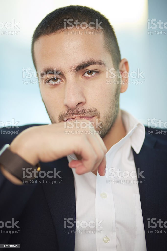 Pensive leader royalty-free stock photo