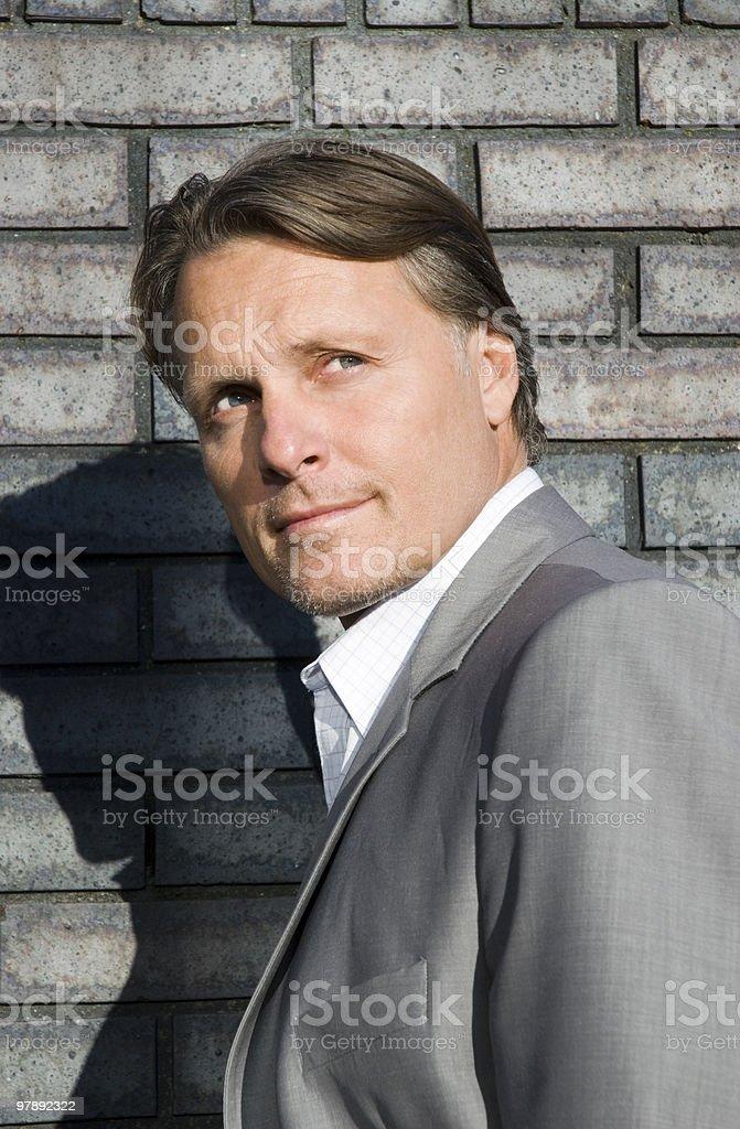 Pensive looking man. royalty-free stock photo