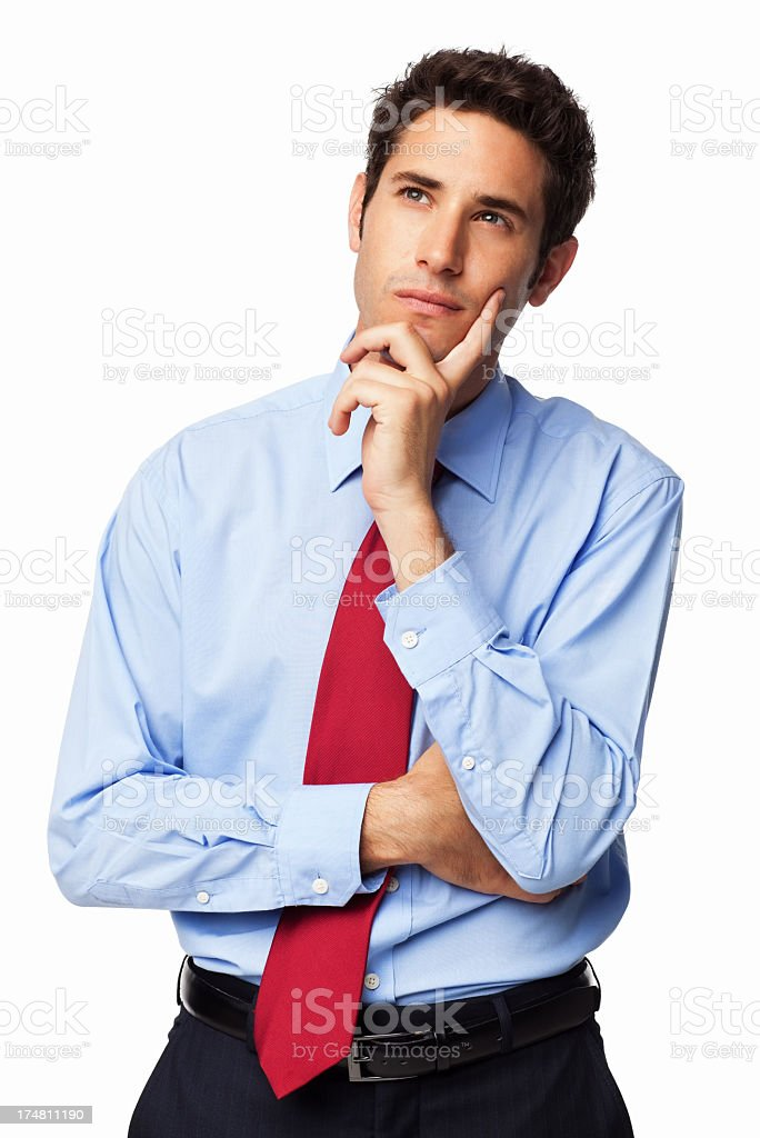 Pensive Male Professional - Isolated royalty-free stock photo