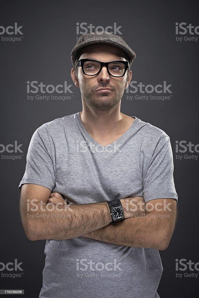 Pensive man royalty-free stock photo