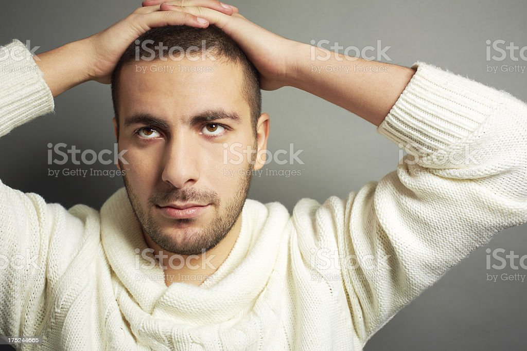 Pensive man royalty-free stock photo